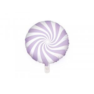 PartyDeco Folieballong Candy, Ljuslila