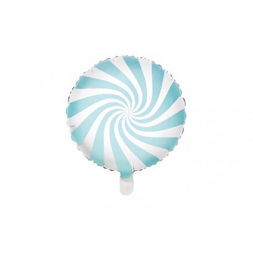 PartyDeco Folieballong LjudBlå