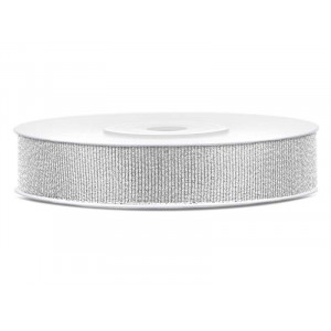 Partydeco Glitterband i silver