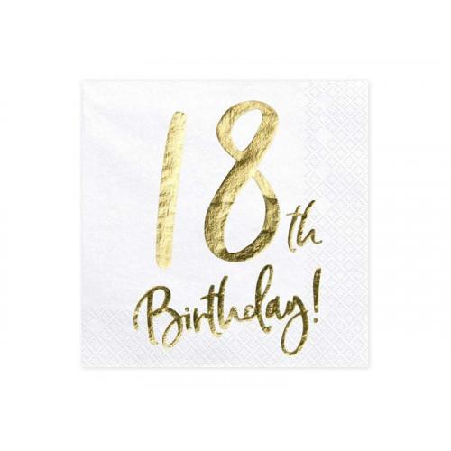 Partydeco Servetter 18th Birthday