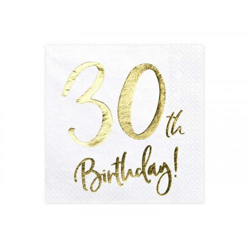 Partydeco Servetter 30th Birthday