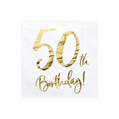 Partydeco Servetter 50th Birthday