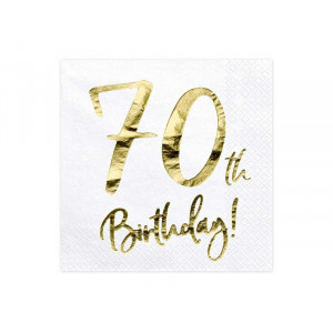 Partydeco Servetter 70th Birthday