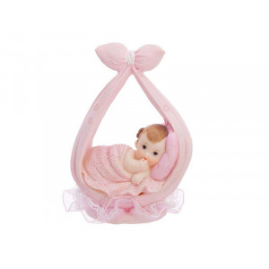 Tårtdekoration Baby, rosa - PartyDeco