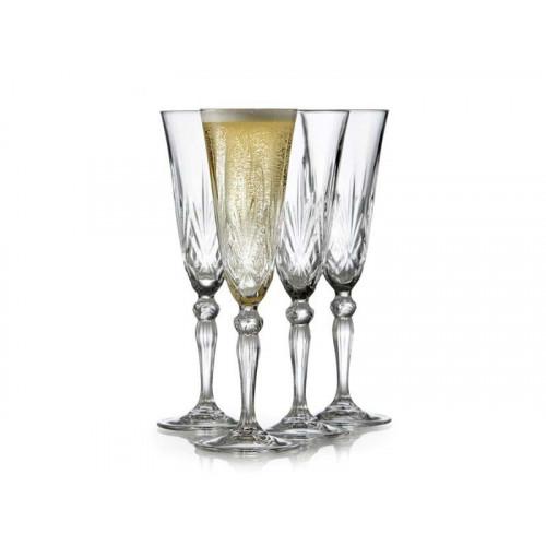 Lyngby Krystal Melodia Champagneglas 4 st