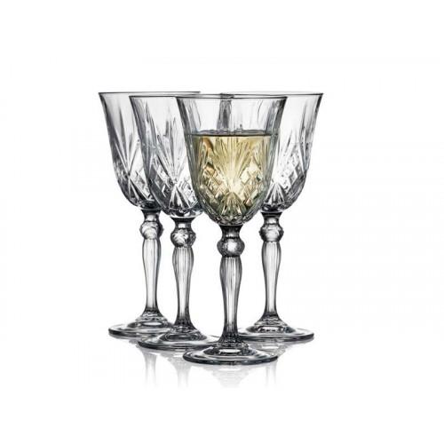 Lyngby Krystal Melodia Vitvinsglas 4 st