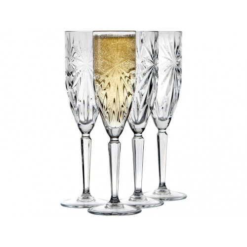 Lyngby Krystal Symfonia Champagneglas 4 st