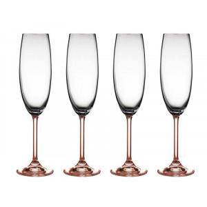 BITZ Champagneglas 4 st, Rosa