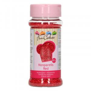FunCakes Sockerpärlor, mini, Röda