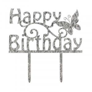 Cake Star Cake topper Happy Birthday, strass