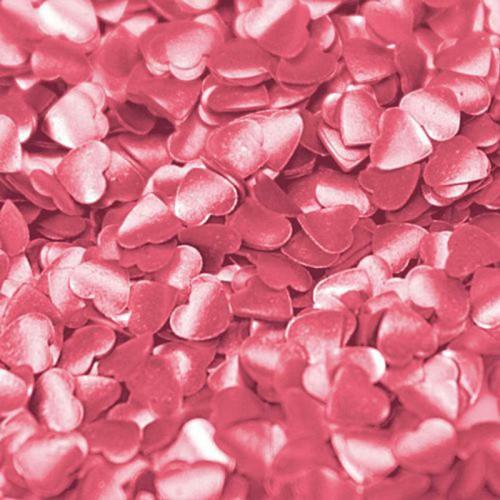 Rainbow Dust strössel, Rosa hjärtan