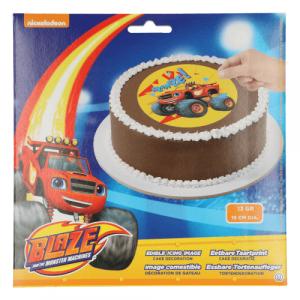 Oblat Tårtbild Blaze och Monstermaskinerna