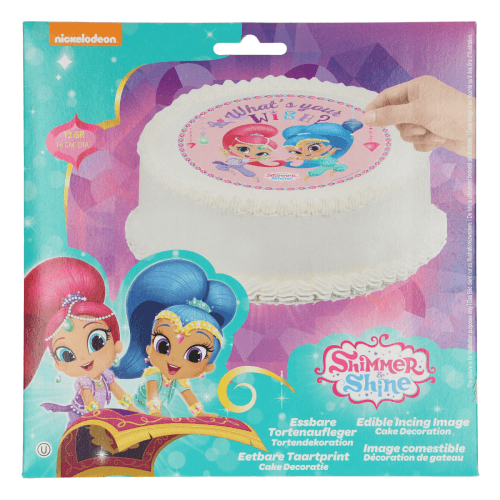 Oblat Tårtbild Shimmer & Shine