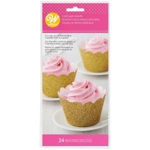 Wilton Cupcake Wrappers Guldglitter