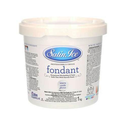 Sockerpasta, vit vanilj, 1 kg - Satin Ice