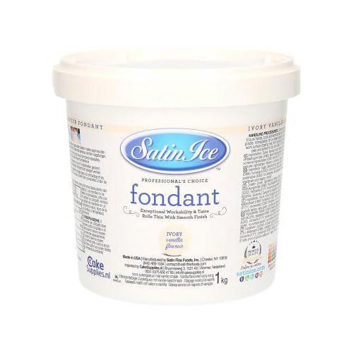 Sockerpasta, Ivory vanilj, 1 kg - Satin Ice