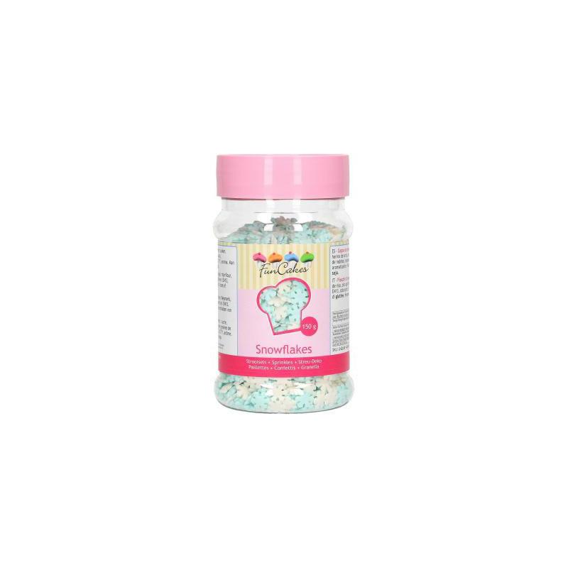 FunCakes Strössel, Snöflingor 150 gram