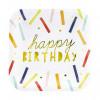 PartyDeco Papperstallrikar, Happy Birthday