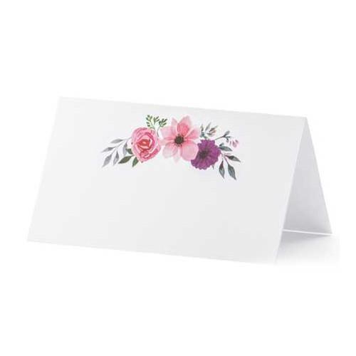 PartyDeco Placeringskort, Blommor, 9,5 x 5,5 cm