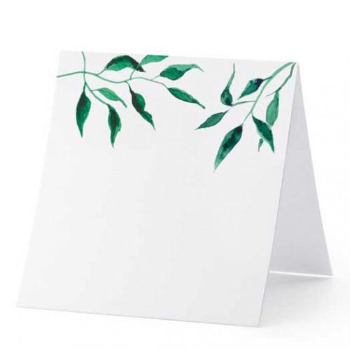 PartyDeco Placeringskort Löv, 7 x 7,5 cm