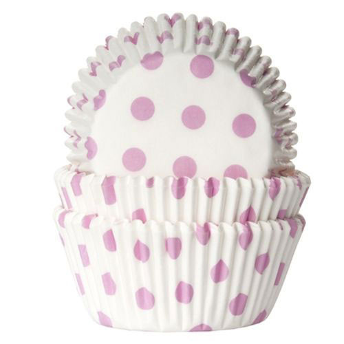 Muffinsform Polkadot Baby Pink - House of Marie