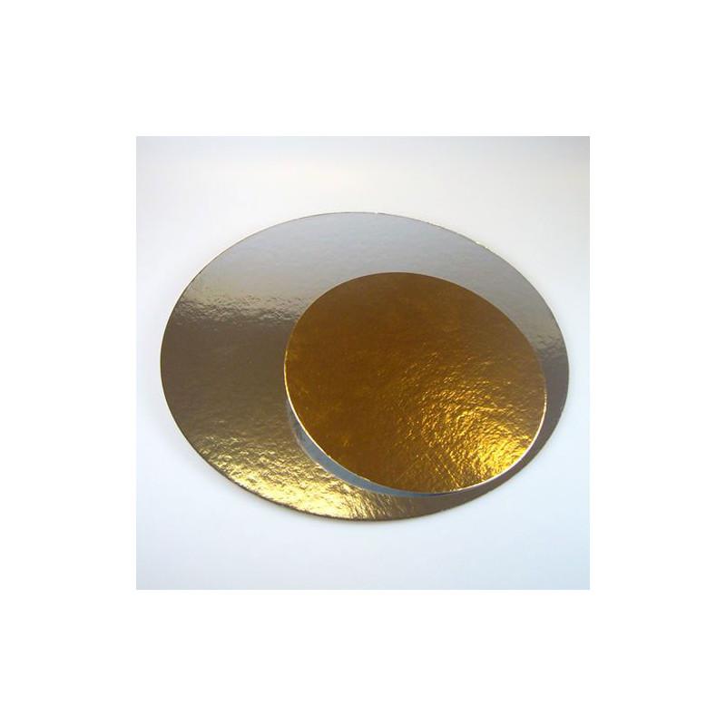 Tårtbricka guld och silver, 3-pack - 25,4 cm