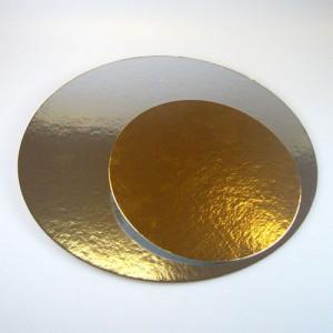Tårtbrickor 30,4 cm, guld och silver, 3-pack