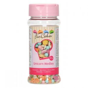 Strössel Unicorn, Enhörning Pastell, 50 g - FunCakes