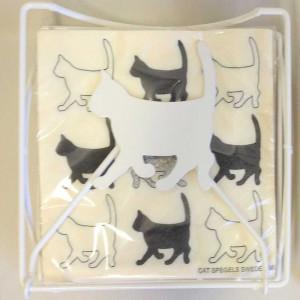 Spegels Servetthållare Katt, vit