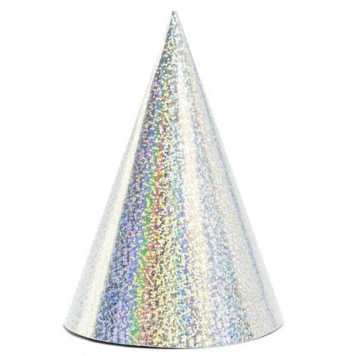 PartyDeco Partyhattar Silver