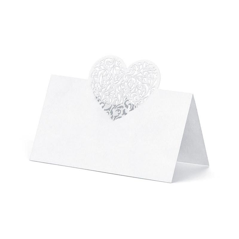 PartyDeco Placeringskort, Hjärta
