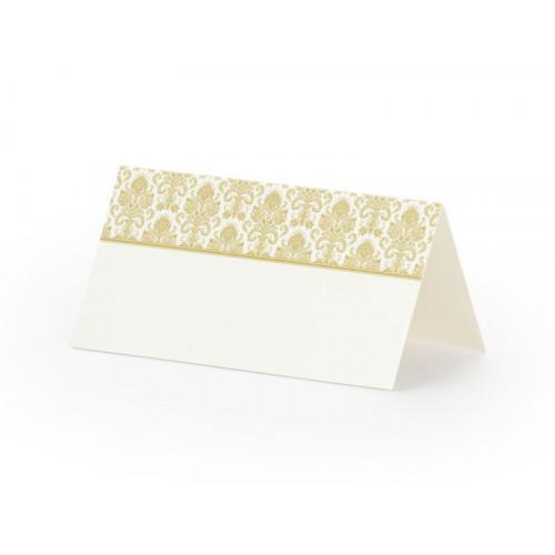 PartyDeco Placeringskort, Ornament Guld