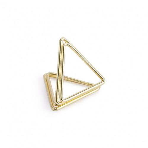 PartyDeco Bordsplaceringshållare Triangel, Guld
