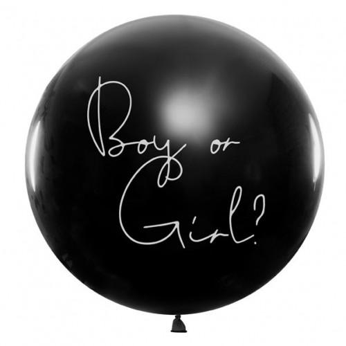 PartyDeco Ballong, Gender Reveal - Blå Ø1 m