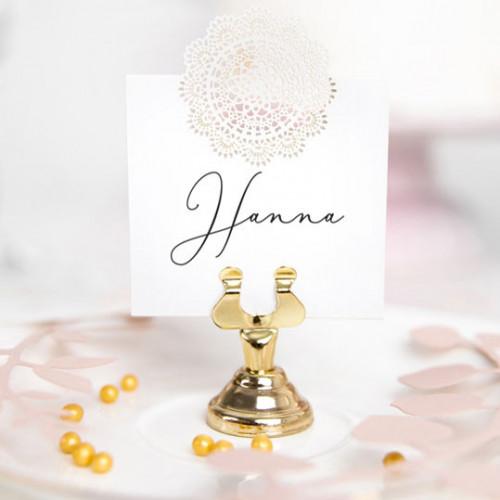 PartyDeco Bordsplaceringshållare Guld, 4 cm
