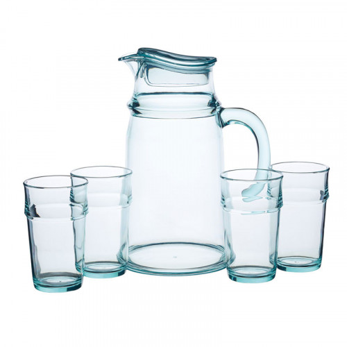 Kitchen Craft Kanna med 4 glas, Akryl
