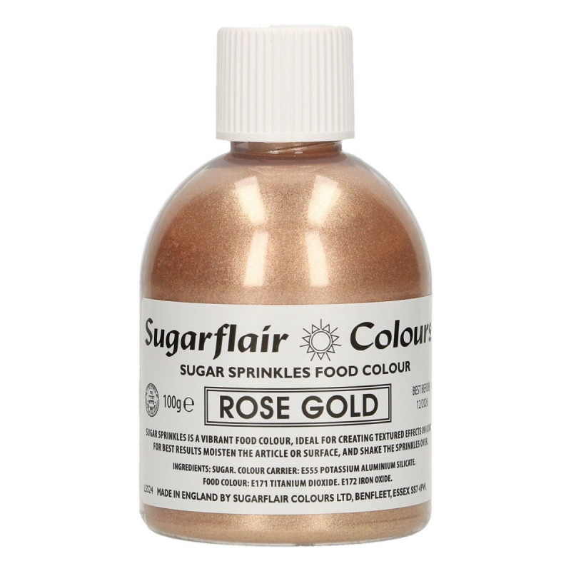 Sugarflair Färgat socker, roséguld
