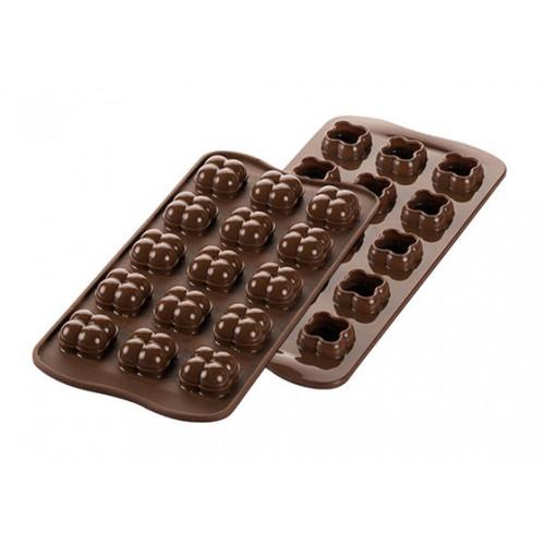 Silikomart 3D-Pralinform Choco Game, silikon
