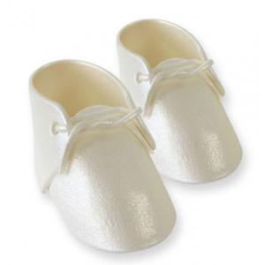 PME Tårtdekoration, Ätbara babyskor, vit pärlemo