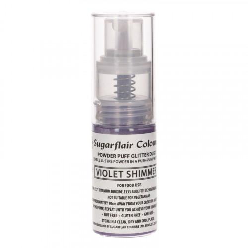 Sugarflair Ätbar Glitterspray, Violet Shimmer