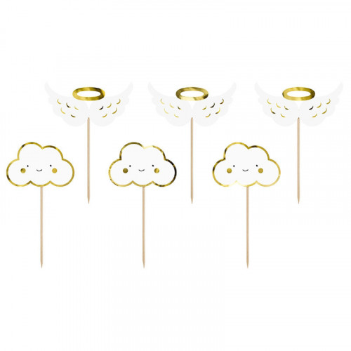 PartyDeco Cupcake Toppers Moln & Vingar