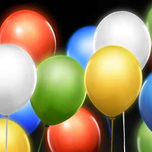 LED-Ballonger Multi - PartyDeco