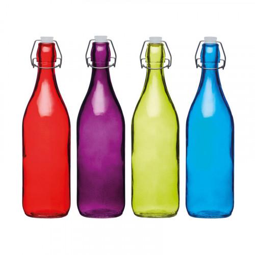 Glasflaska 4 olika färger - Colourworks