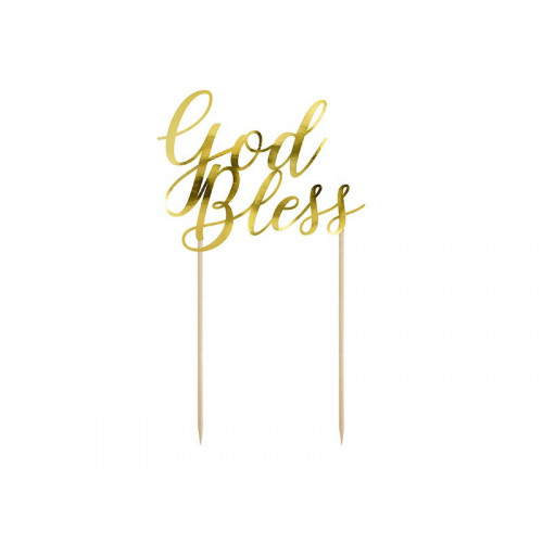 Cake Topper God Bless - PartyDeco