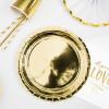 Papperstallrikar Guld Ø23 cm - PartyDeco