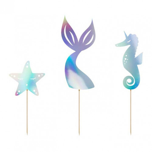 Cake Topper Mermaid - PartyDeco