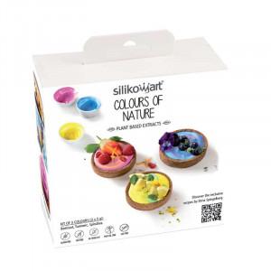 Växtbaserad ätbar färg, Colours of Nature - Silikomart
