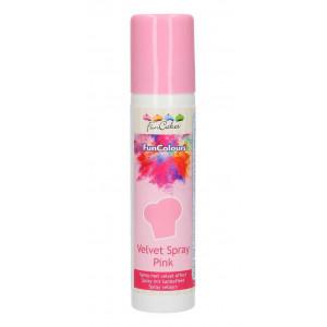 Sammetsspray Rosa - FunCakes