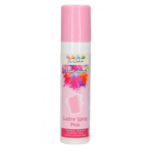 FunCakes Glansspray Metallic Rosa