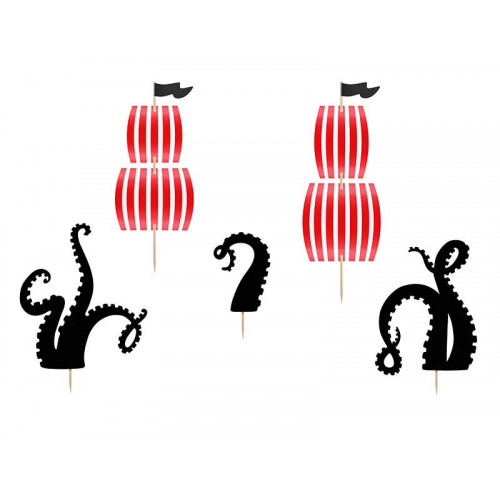 Cake Toppers Pirates Party - PartyDeco